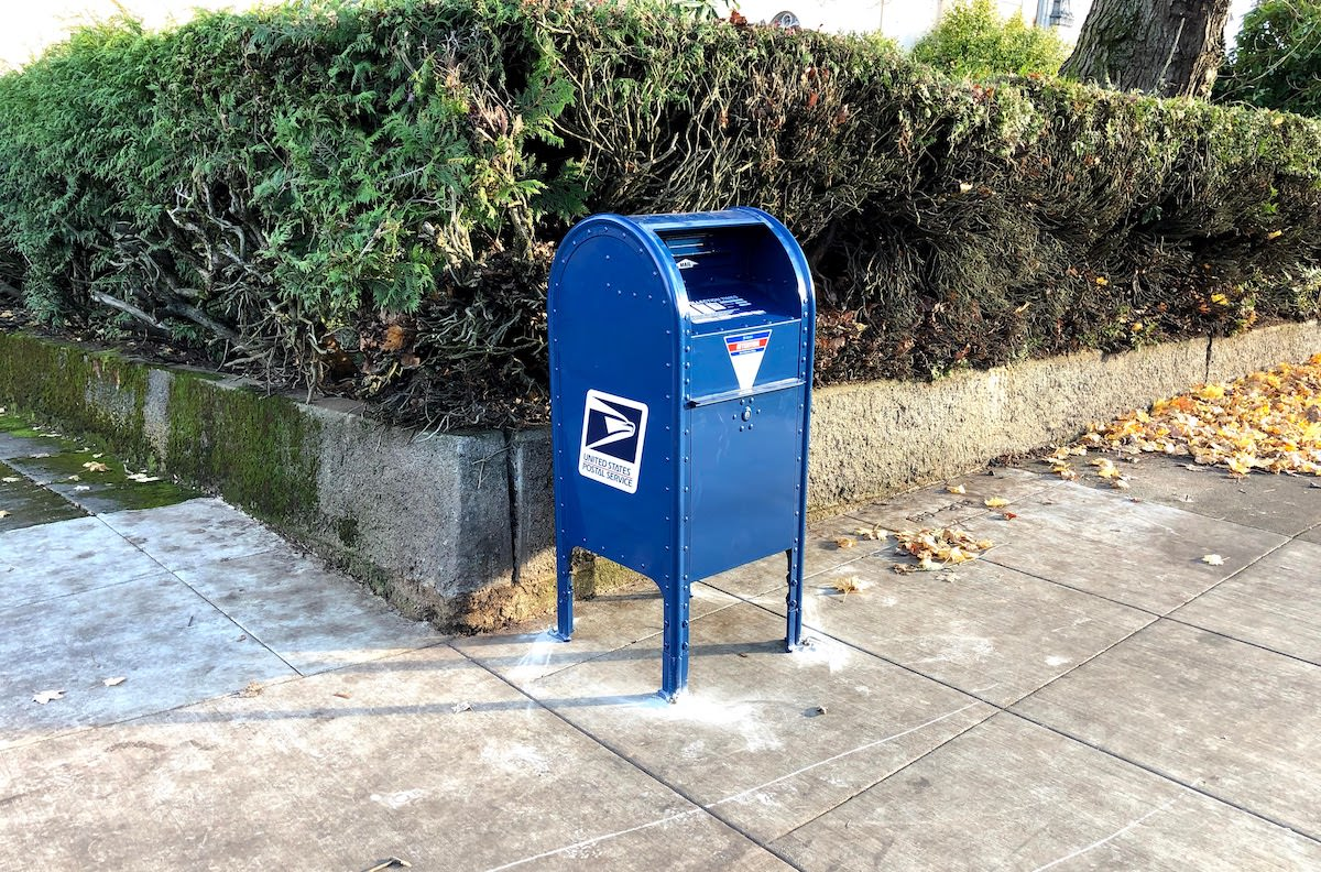 Vandalized USPS Mailbox Replaced