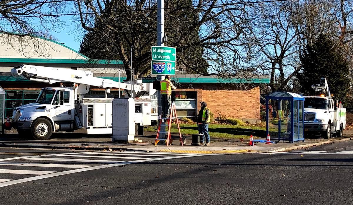 Crosswalk Signal Repair at 82nd