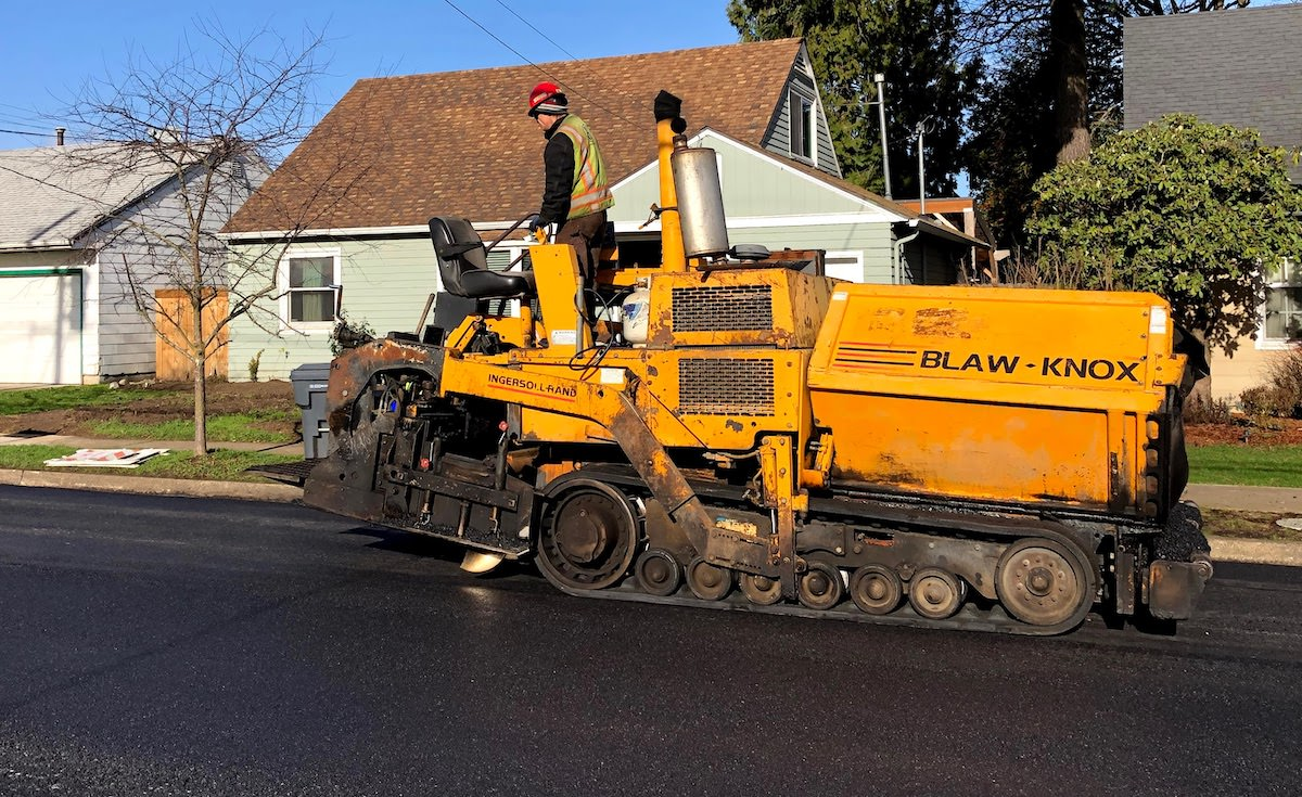 Repaving NE Pacific Street