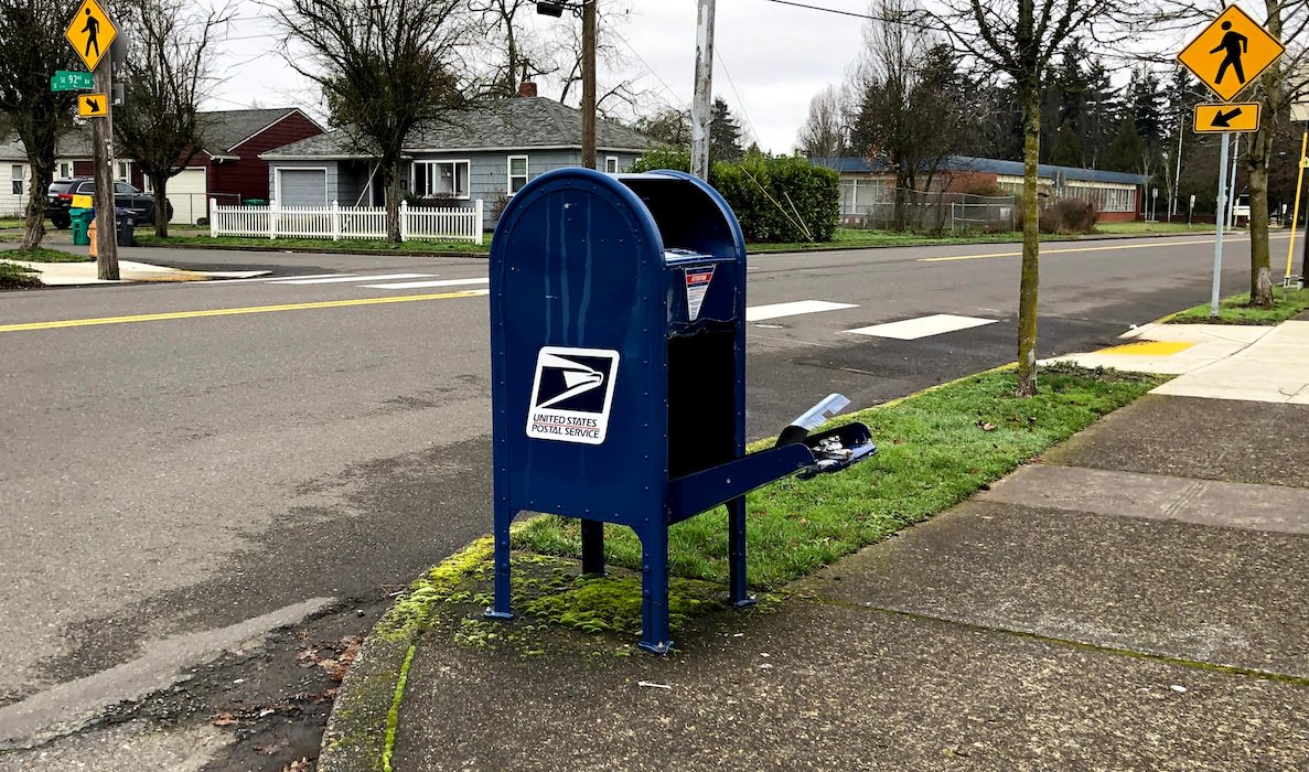 Another Postal Collection Box Vandalized
