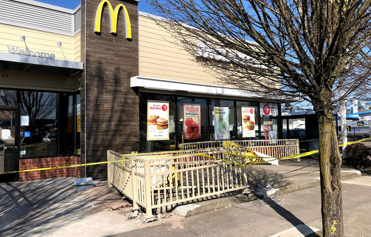 McDonald's Damaged by Car Crash