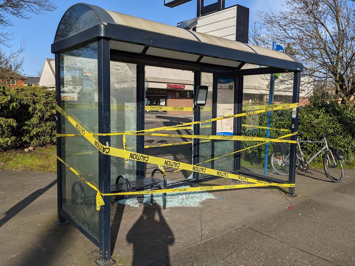 Bus Shelter's Quick Glass Repair