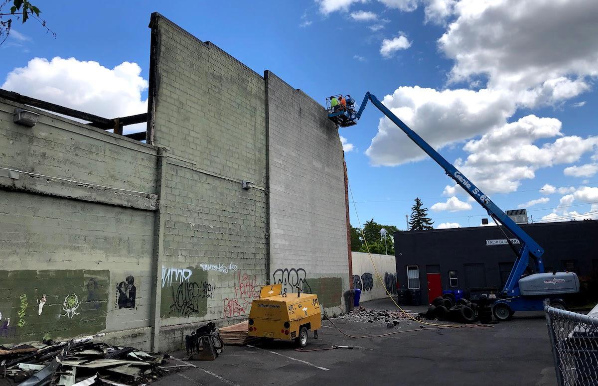 Fire Damaged Building's Demolition
