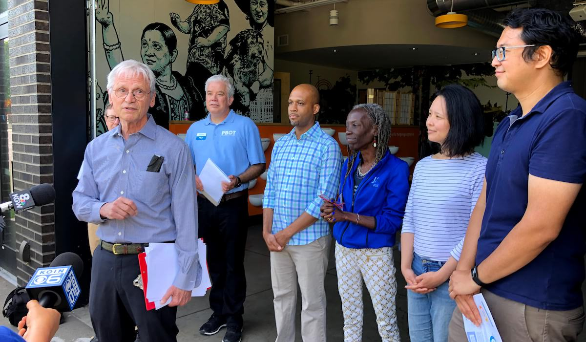 Officials Tour 82nd Ave Ahead of Improvements