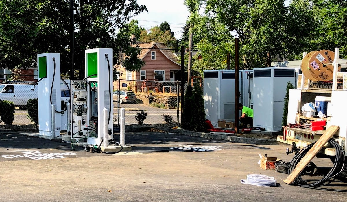 Glisan EV Chargers Near Completion
