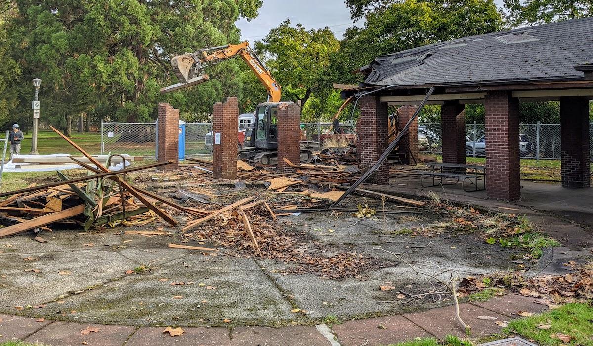Park Picnic Shelter Demolished