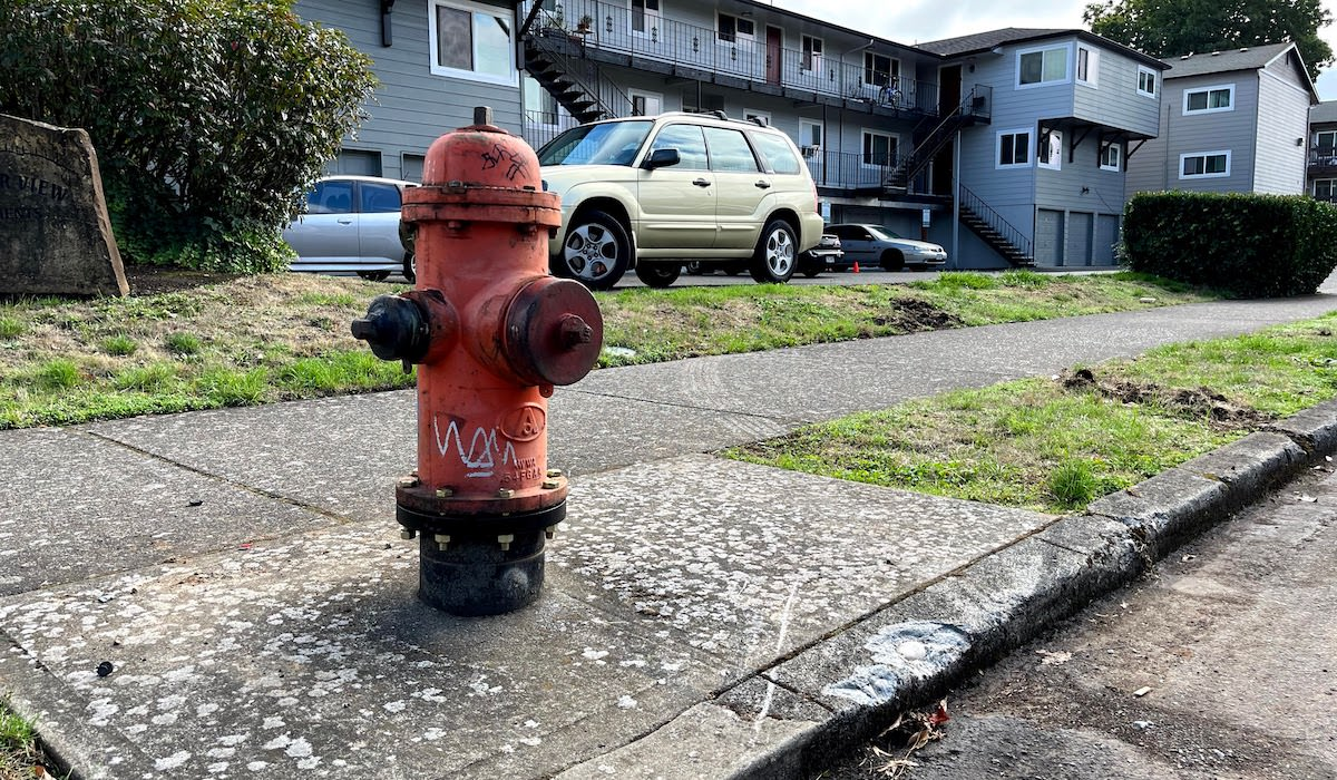 Damaged Hydrant Repaired on SE 80th